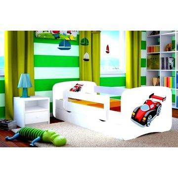 Łóżko dla dziecka chłopięce z materacem i szufladą