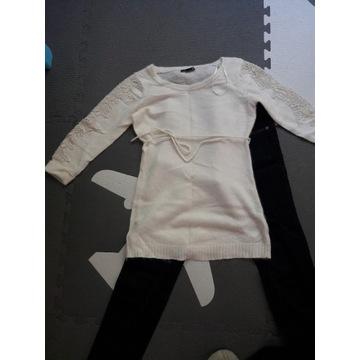spodnie ciążowe H&M r. 34 jak nowe plus sweterek