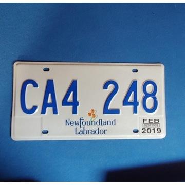 Tablica Canada Newfoundland Labrador