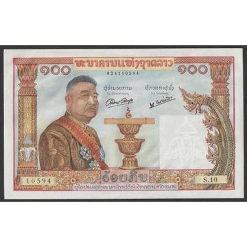 Laos 100 kip 1957 - stan bankowy UNC