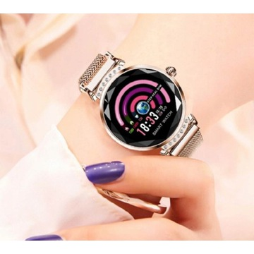Smartwatch elegancki zegarek damski