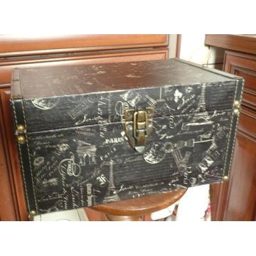 kuferek szkatułka PARIS pudełko dekoracyjne