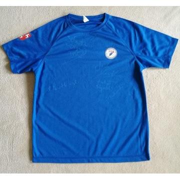 Koszulka z podpisami dziennikarzy sportowych TVP