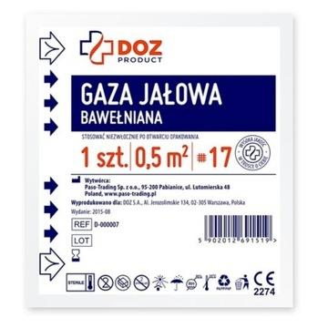 Gaza jałowa bawełniana 0,5m2 17nitkowa