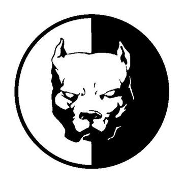-65% Pitbull dog pies naklejka na auto ścianę itp