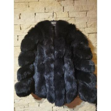 Płaszcz z prawdziwego futra naturalnego