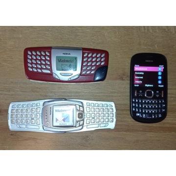 Zestaw klasycznych telefonów S40 z qwerty NOKIA.