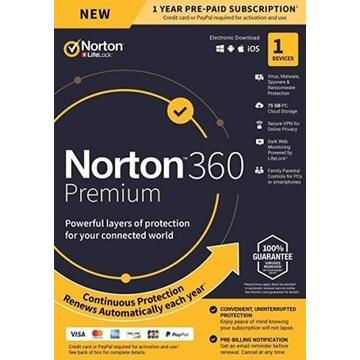 Norton Security 360 - ESD - 1 PC / 12 ROK