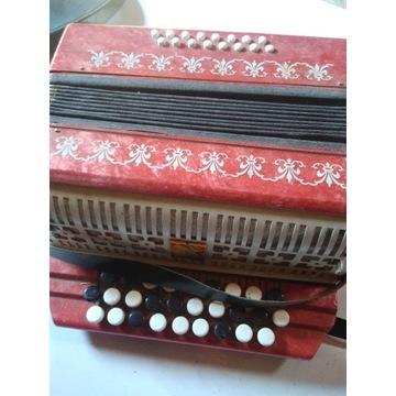 Rosyjska harmonia Malysz stary akordeon guzikowy