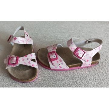 sandały dla dziewczynki biało-różowe roz. 30 18,8