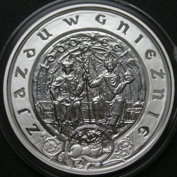 Polska 10 złotych 2000 - Zjazd w Gnieźnie - stan 1