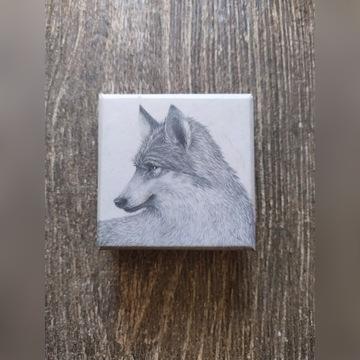Uchwyt na torebkę - wilk