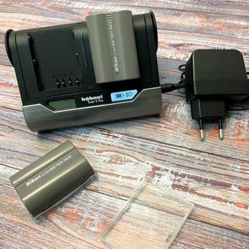 2x Akumulator Nikon EN-EL3e +ładowarka procesorowa