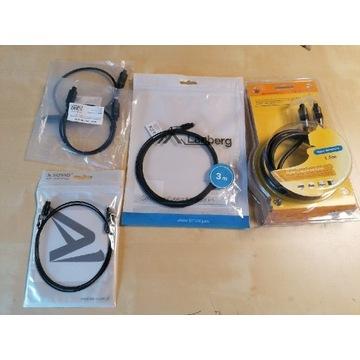 Kabel optyczny 5 sztuk różne długości