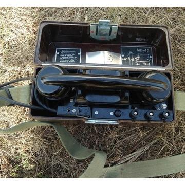 WOJSKOWY TELEFON POLOWY MB-43 aparat PRL oryginał