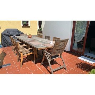 Stół z drewna egoztycznego wraz z krzeslami
