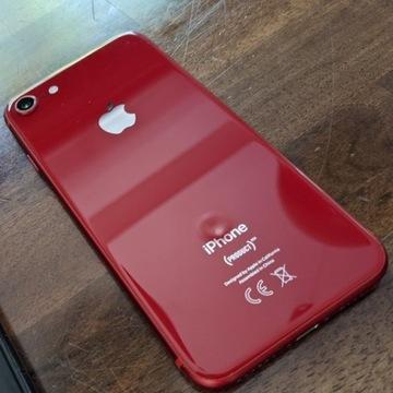iPhone 8 RED + etui + ładowarka