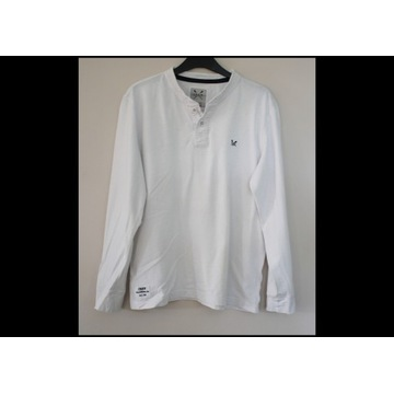 M bluzka męska CREW CLOTHING koszulka biała
