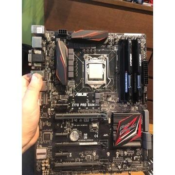 ASUS Z170 PRO GAMING + I5-6600 + 16GB RAM DDR4
