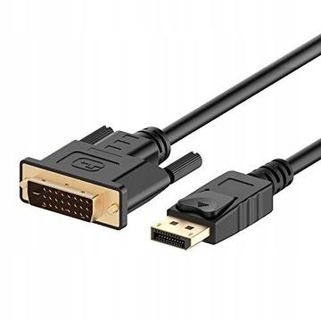 Rankie Kabel DisplayPort na DVI, 1080P, 1,8 m