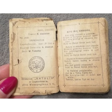 Modlitewnik-książeczka do nabożeństwa 1930r