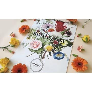 Kalendarz 2021, Kwiaty, Mr Lemon, rozm.A3, 13 kart