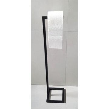 Stojak na papier toaletowy czarny loft