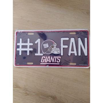 Tablica rejestracyjna GIANTS, NFL, USA