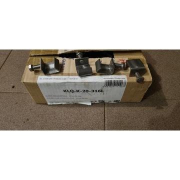 Klamra nierdzewna KLQ-K-20-316L śruba A4