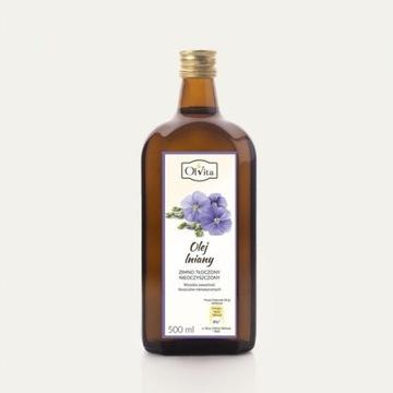 Olej lniany budwigowy 500ml Olvita