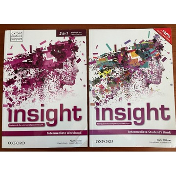Insight Intermediate KOMPLET SB + WB OXFORD