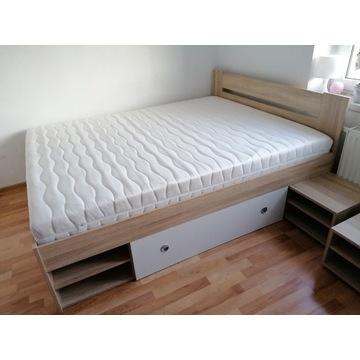 Łóżko 160x200 dąb sonoma/ biel