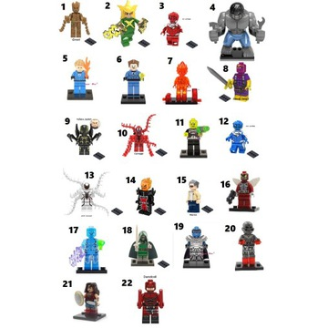 ludziki, figurki Superbohaterów do LEGO - NOWE!