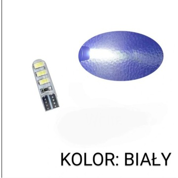 Żarówka T10 W5W LED 6SMD 5630 12V Canbus MOCNA!