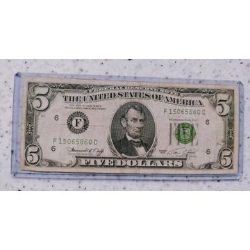 5  Dolarów USA 1974 r F