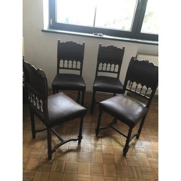Komplet krzeseł sztuk 4