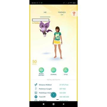 konto pokemon go lvl 50 Instinct (183miliony exp)