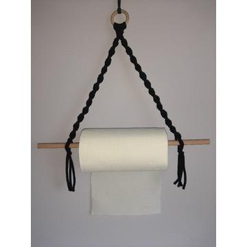 Makrama, uchwyt na ręcznik papierowy
