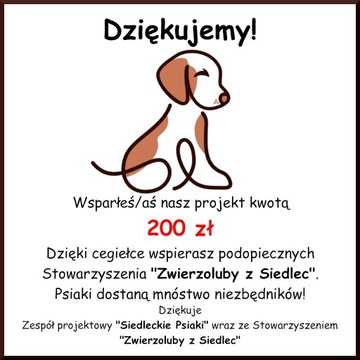 Cegiełka o wartości 200 zł