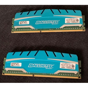 Ballistix Sport XT, DDR3, 8 GB (2x4), 1600MHz, CL9
