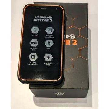 Smartfon HAMMER ACTIVE 2 NOWY 2 GB RAM pomarańcz