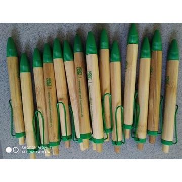 Długopisy ekologiczne bambus 15 sztuk