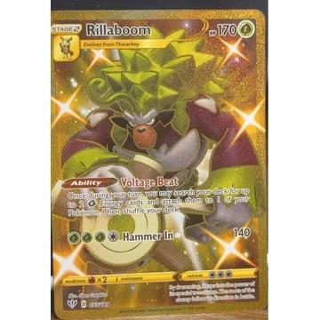 Rillaboom 197/189 Gold Secret Rare Pokemon Card D