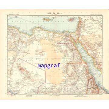 AFRYKA EGIPT NUBIA NIL mapa z 1906 roku 70