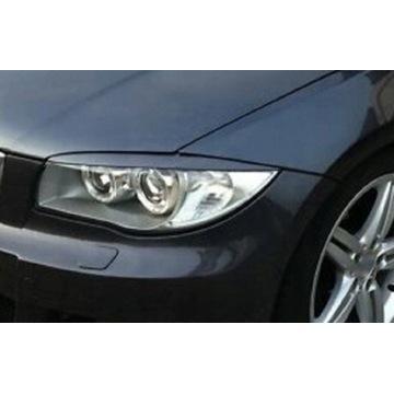 Brewki nakładki na lampy światła BMW 1 e87 brwi
