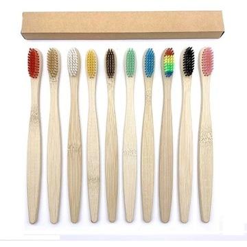 Szczoteczka do zębów bambusowe Mix kolorów