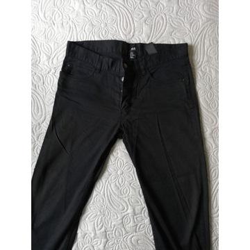**H&M** Czarne Spodnie  32