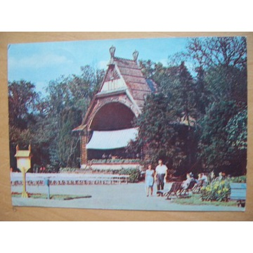 Ciechocinek Fragment Parku Zdrojowego 1970
