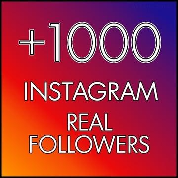 1000 Instagram Followers / Obserwatorzy GWARANCJA