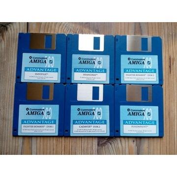 6 dyskietek z grami Commodore Amiga 500